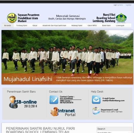 Website Resmi Yayasan Pesantren Pendidikan Islam Madani http://nfbslembang.com