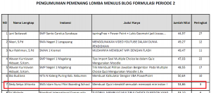 Alhamdulillah juara ketiga lomba menulis tutorial teknologi pendidikan dari Forum Multimedia Edukasi Prop. Jawa Tengah, 2013