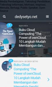 Halaman DedySetyo.Net di Android