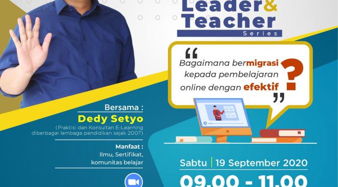 Webinar Education bersama dedy setyo